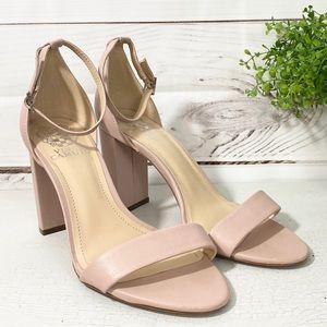 💕🌵Vince Camuto Nude Pink Block Heel Sandal 8